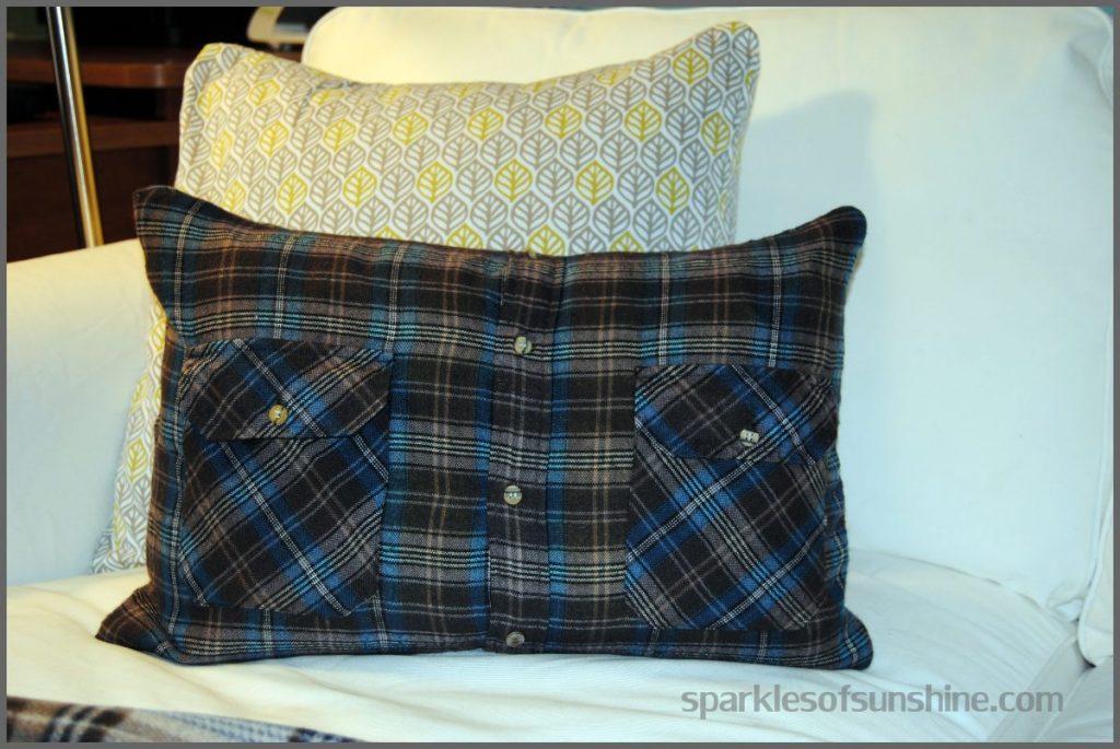 DIY Flannel Shirt Pillow & How to Make a Flannel Shirt Pillow in 5 Easy Steps pillowsntoast.com
