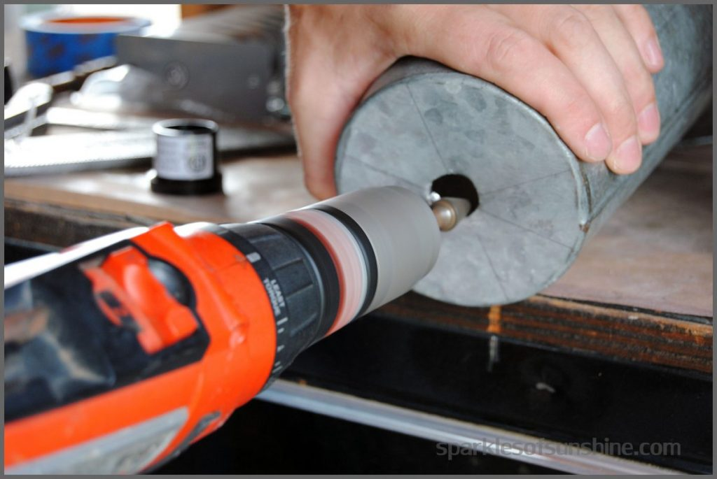 Drill Hole for DIY Pendant Lamp
