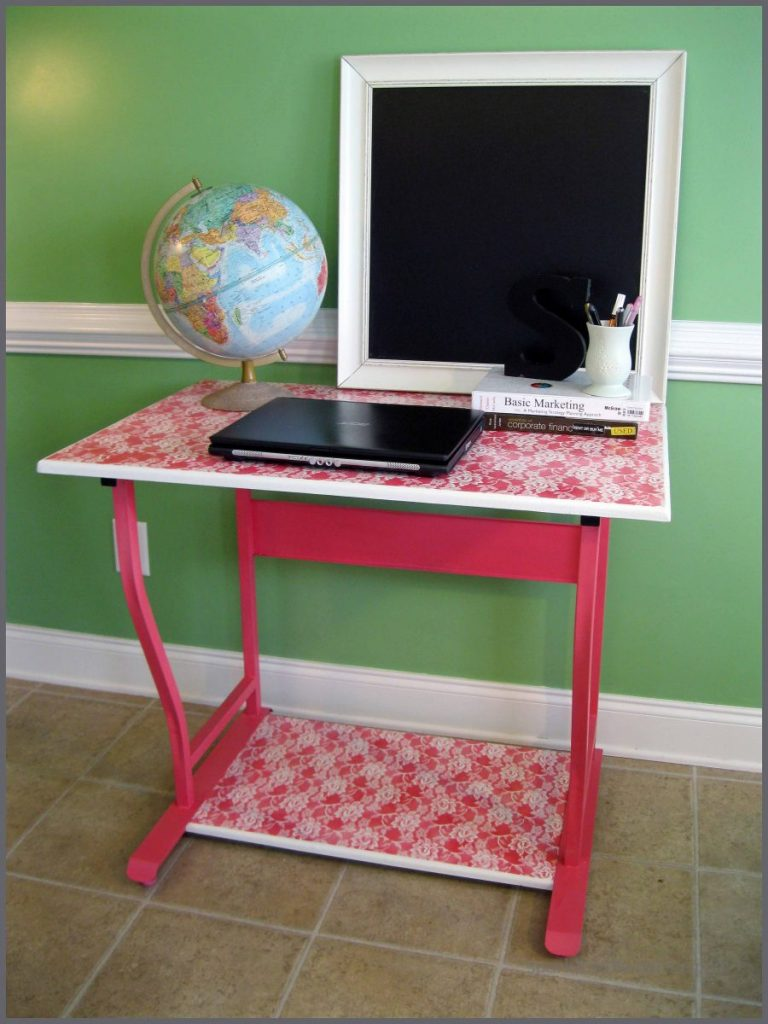 Lace Desk makeover