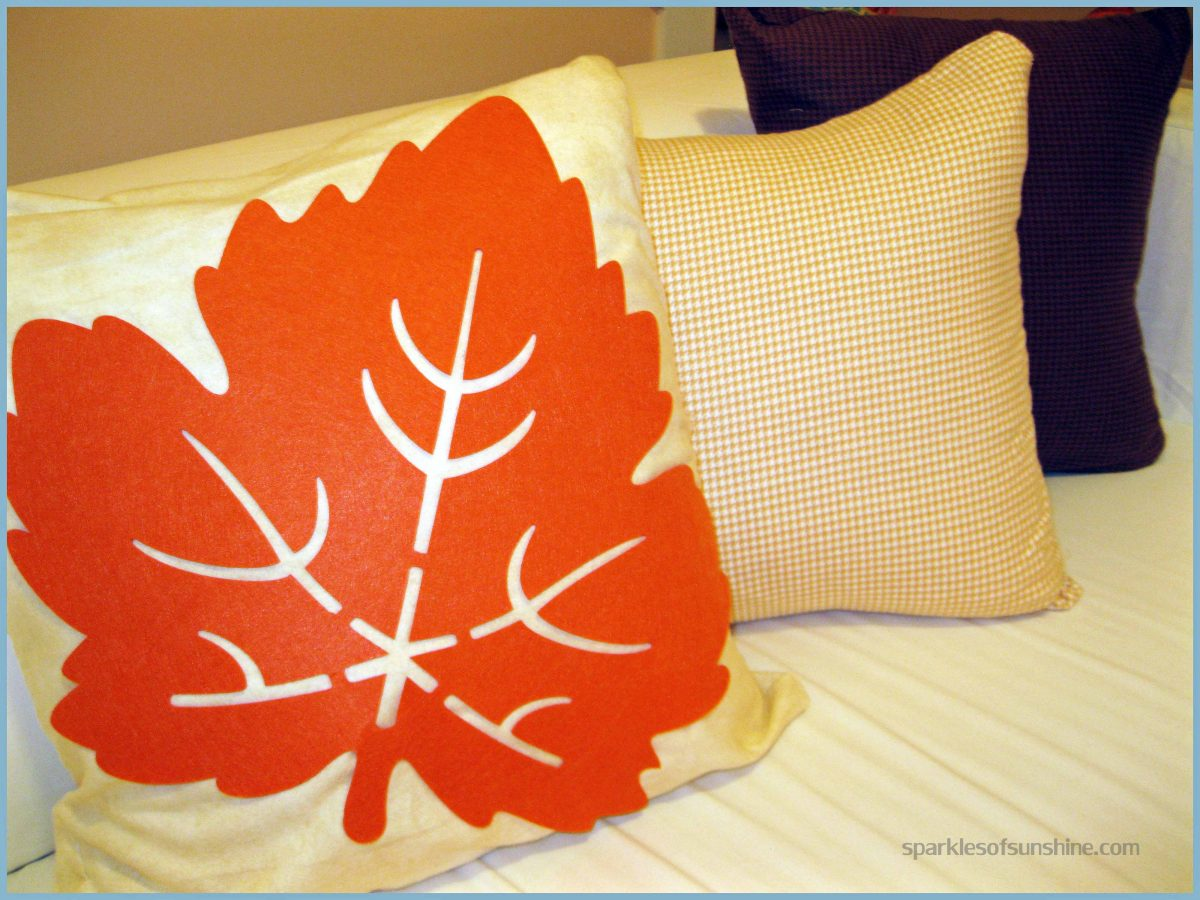 Dollar Store Pillow Cover by Sparkles of Sunshine