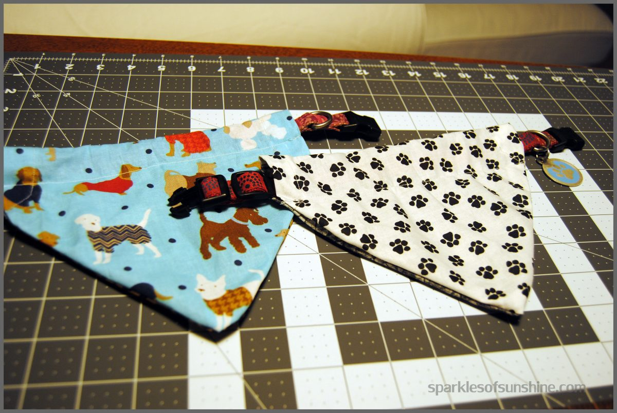 How To Make A Reversible Slip Over The Collar Dog Bandana