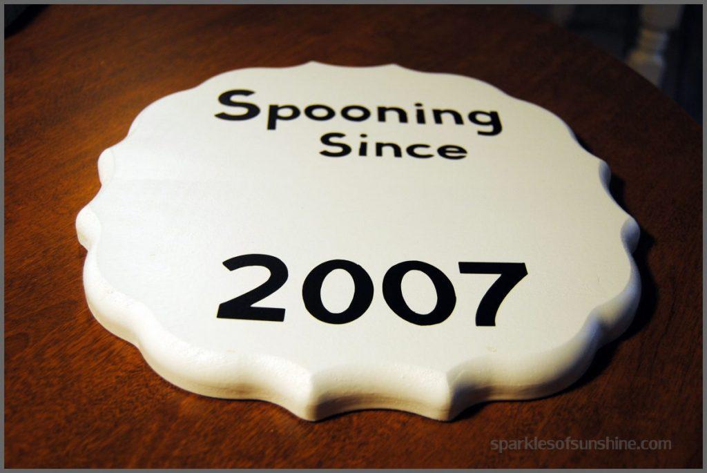 Spooning DIY Sign