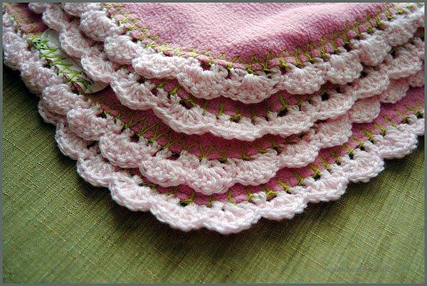 Super Easy Crocheted Edge Pattern Sparkles Of Sunshine