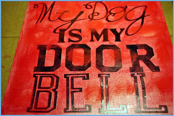 DIY Dog Doorbell Sign
