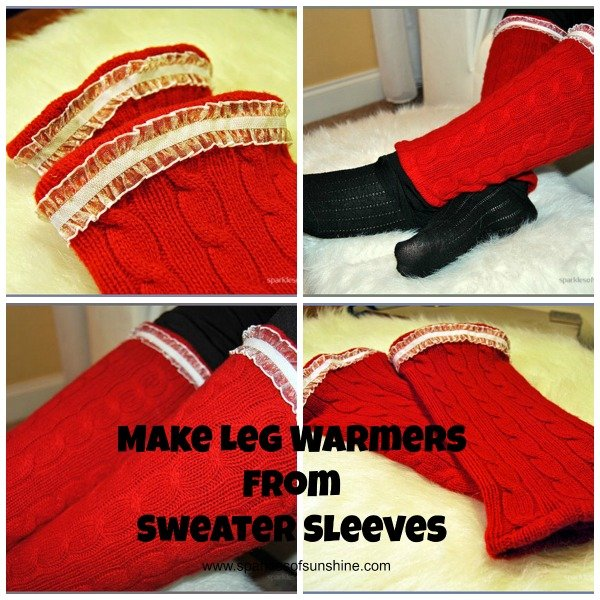 Make Leg Warmers From Sweater Sleeves