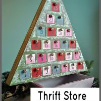 See this beautiful thrift store Advent Calendar makeover at Sparkles of Sunshine.
