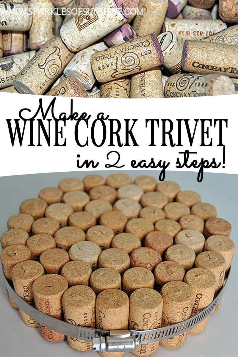 Make a wine cork trivet in 2 easy steps sparkles of sunshine for Simple cork