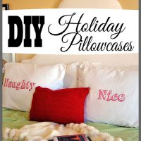 See how easy it is to make these fun DIY Holiday Pillowcases by visiting Sparkles of Sunshine today.