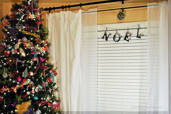 DIY Lettered Garland for the Christmas Holiday