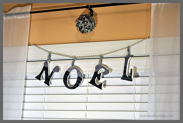 DIY Lettered Garland for the Holiday