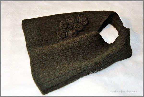 DIY Sweater Handbag Felted Wool from Sparkles of Sunshine