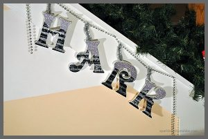 Sparkly DIY Lettered Garland