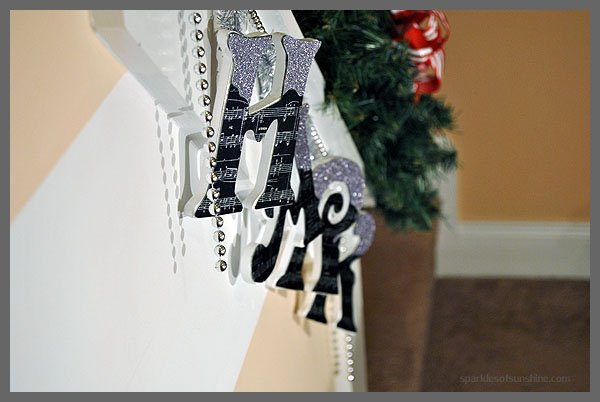 Sparkly Lettered DIY Garland