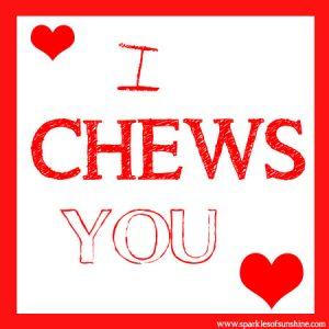 Charleston Chews Valentine Sparkles of Sunshine