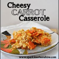 Cheesy Carrot Casserole Recipe from Sparkles of Sunshine