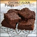 Coconut Flour Fudgy Brownies