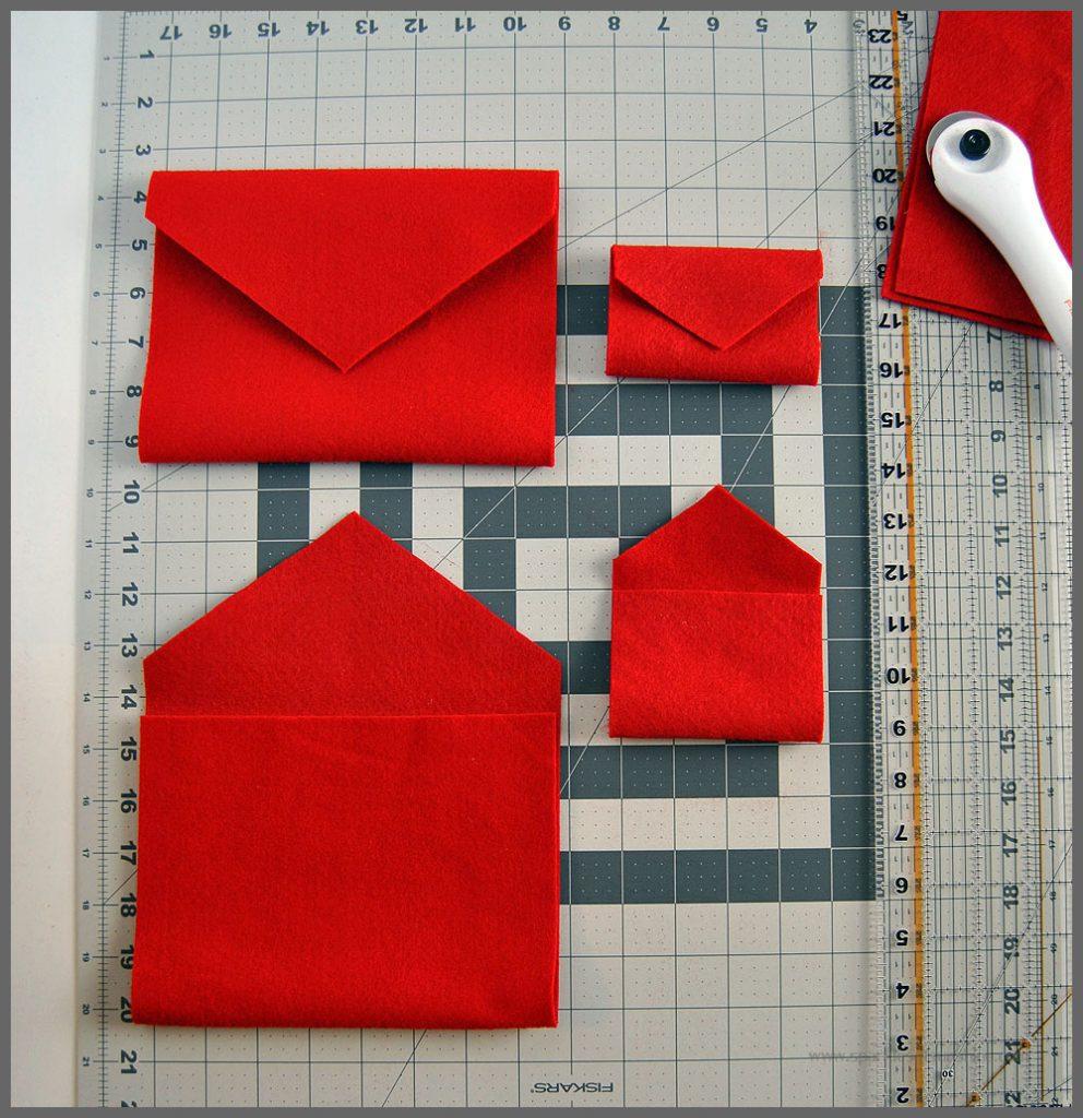 DIY Easy Felt Valentine Envelopes
