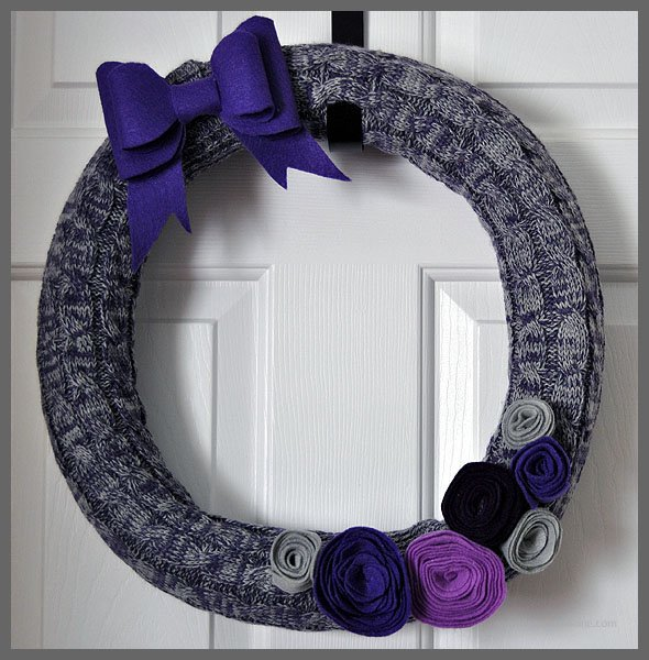 DIY Thrifty Winter Pool Noodle Wreath at Sparkles of Sunshine