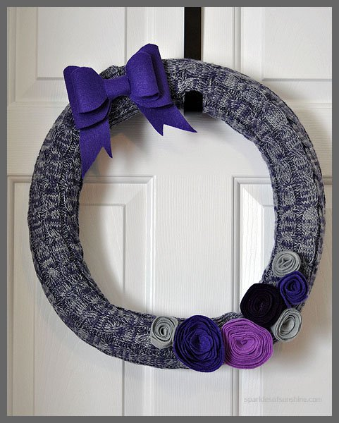DIY Thrifty Winter Pool Noodle Wreath