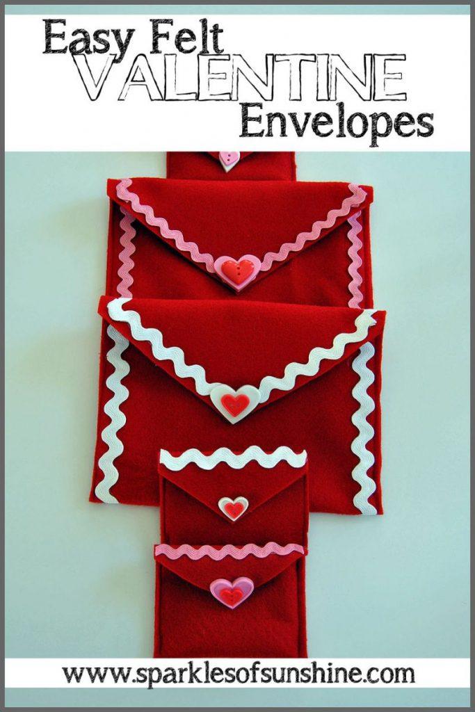 Easy Felt Valentine Envelopes DIY