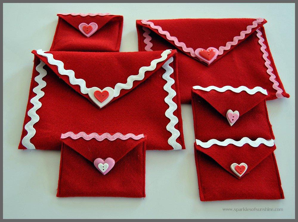 Easy Felt Valentine Envelopes - Sparkles of Sunshine