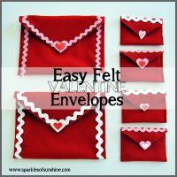 Easy Felt Valentine Envelopes at Sparkles of Sunshine