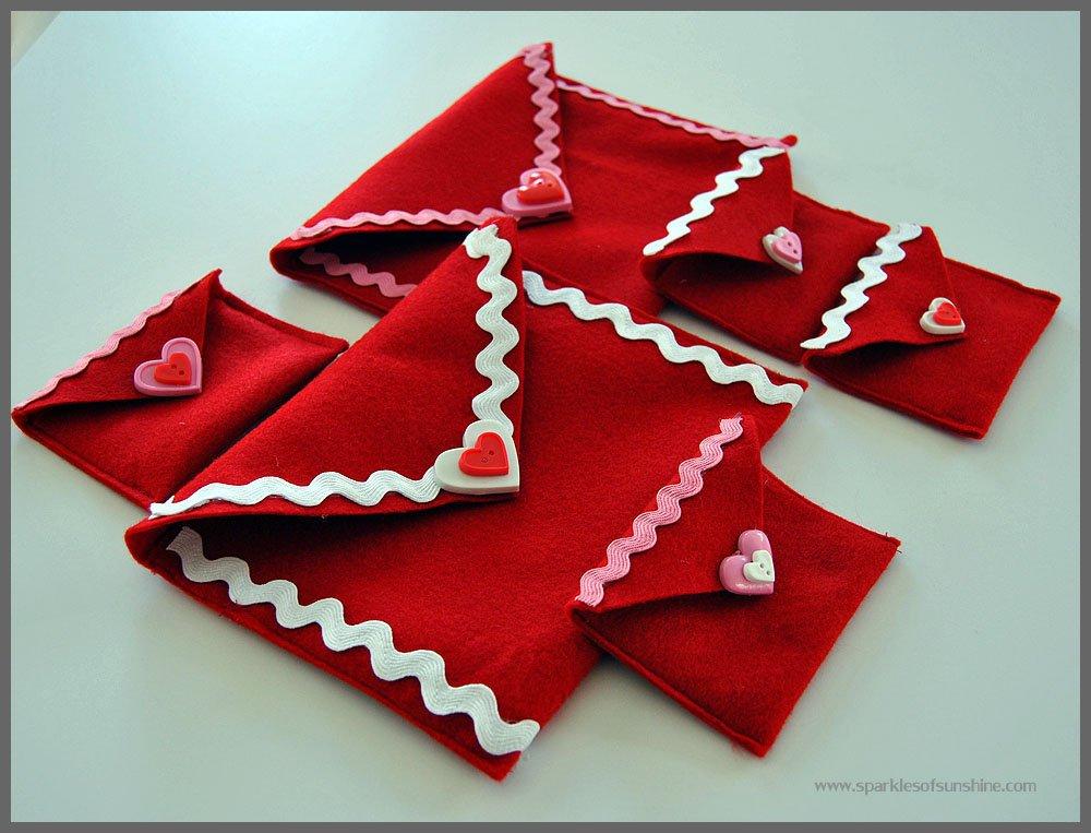 Easy Felt Valentine Envelopes from Sparkles of Sunshine