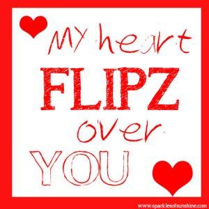 FLIPZ Valentine Sparkles of Sunshine