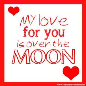 Moon Pie Valentine Sparkles of Sunshine