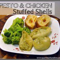 Pesto & Chicken Stuffed Shells Recipe at Sparkles of Sunshine