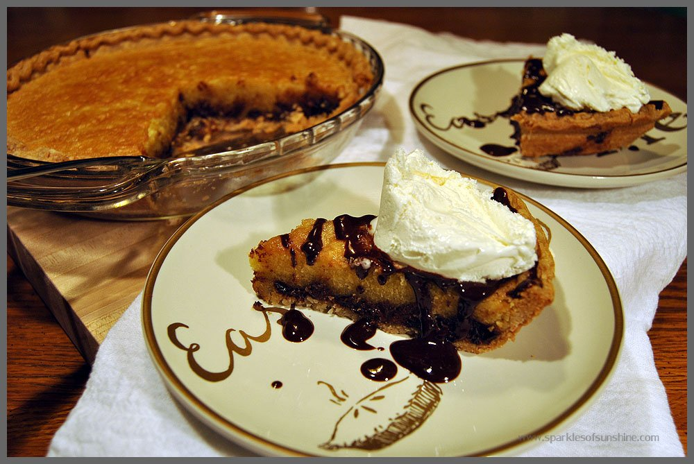 Recipe for Chocolate Chip Cookie Pie