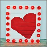 Repurposed Valentine Marquee Sign from Sparkles of Sunshine