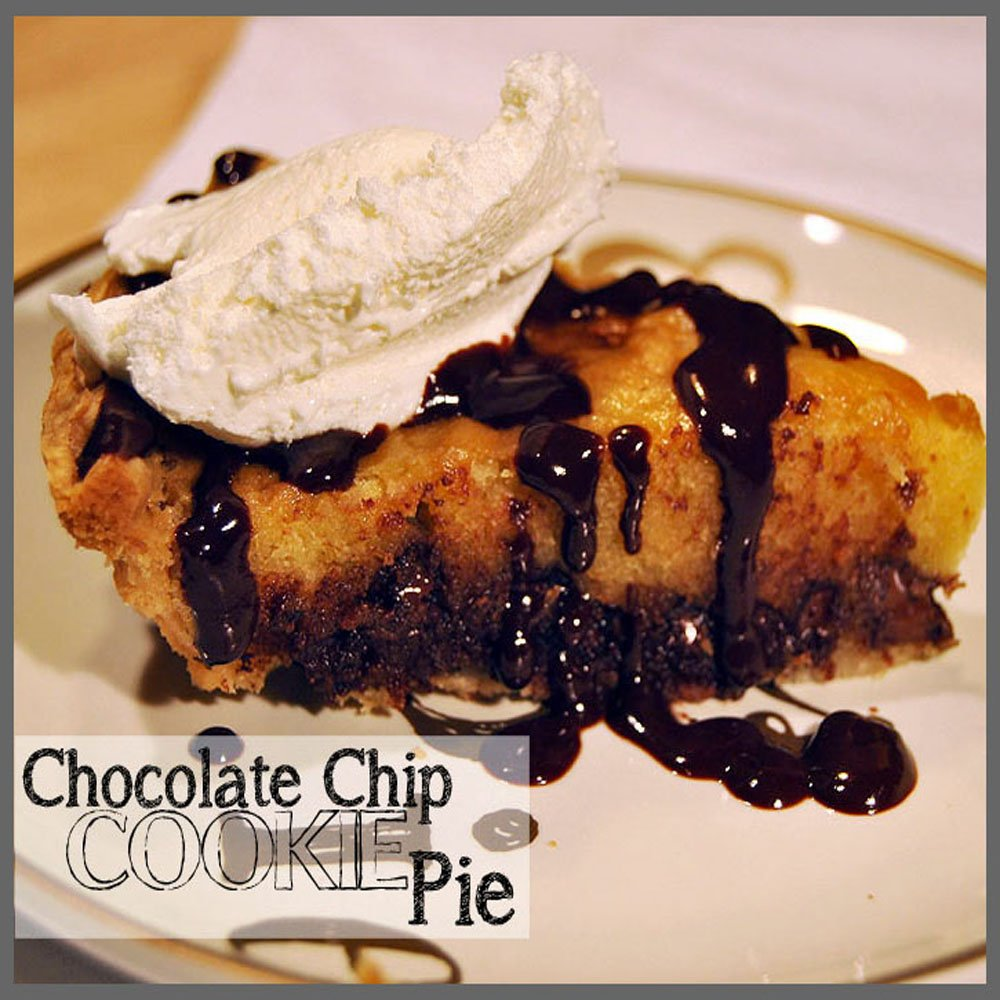 The Chocolate Chip Cookie Pie - Sparkles of Sunshine