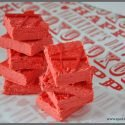Two Ingredient Valentine Fudge