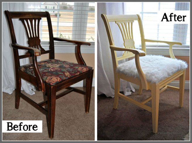 Antique Chair Revival Before & After Sparkles of Sunshine