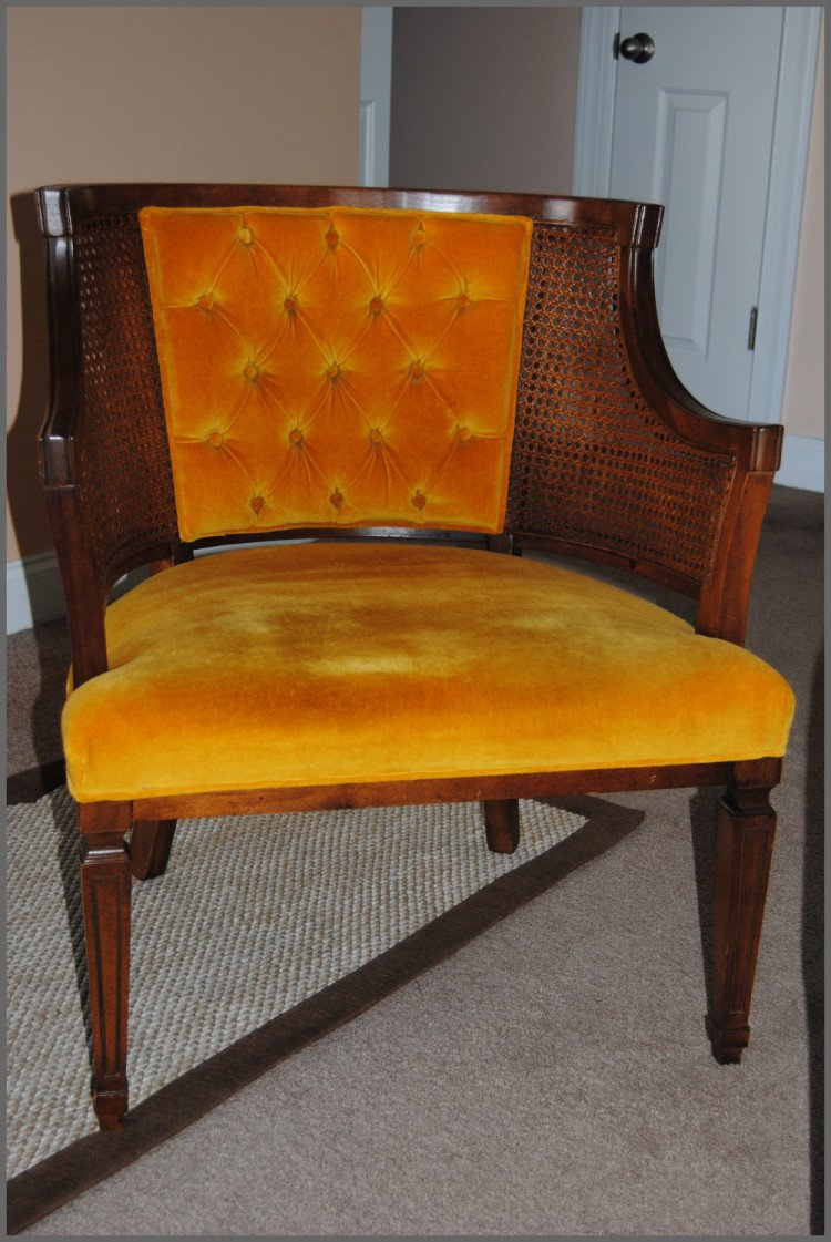 Cane Chair Before Makeover at Sparkles of Sunshine
