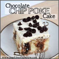 Chocolate Chip Poke Cake Recipe at Sparkles of Sunshine