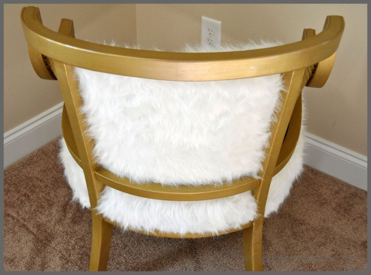 DIY Chair Project-Cane Chair Goes Glam at Sparkles of Sunshine