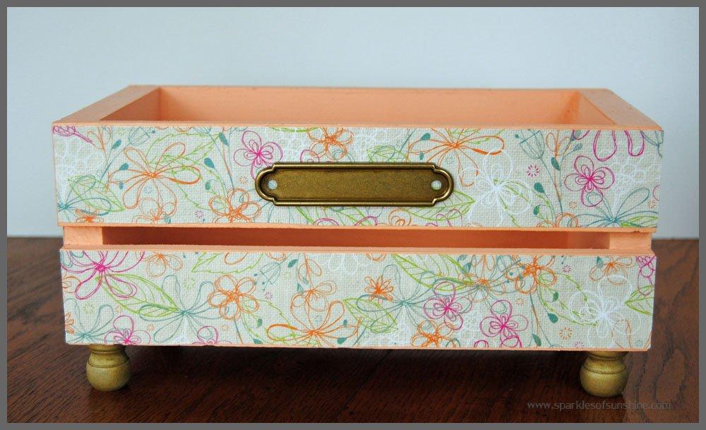 DIY Glammed Up Wooden CD Crate - Sparkles of Sunshine