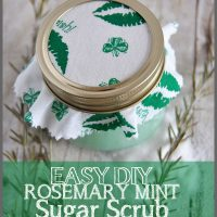 This Easy DIY Rosemary Mint Sugar Scrub recipe at Sparkles of Sunshine is simple to make and will leave your skin soft and smooth.