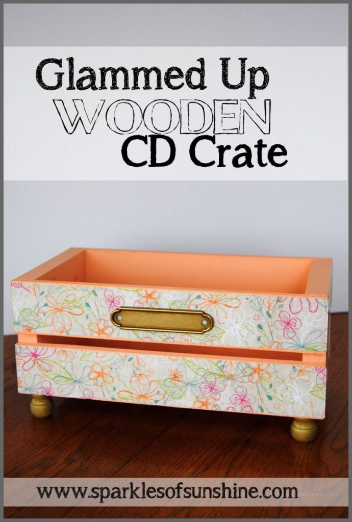Glammed Up Wooden CD Crate at Sparkles of Sunshine