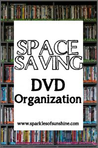Check out this easy way to store your DVDs at Sparkles of Sunshine.