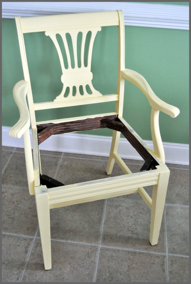 Sparkles of Sunshine Antique Chair Revival