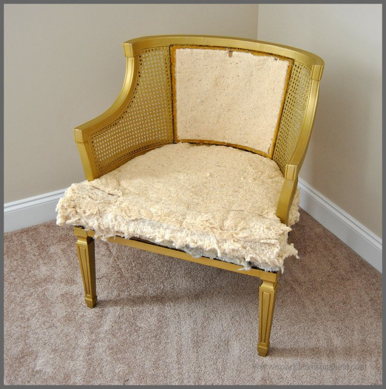 Sparkles of Sunshine-Cane Chair Goes Glam
