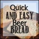 Quick and easy beer bread recipe using only 3 ingredients. Get the recipe at Sparkles of Sunshine!