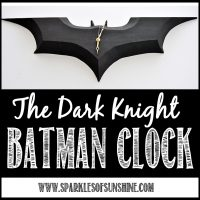 DIY Batman Clock at Sparkles of Sunshine...a perfect DIY gift for The Dark Knight fan!