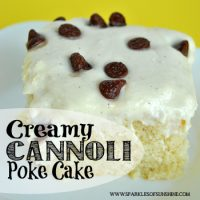 If you like a Cannoli, you'll love this recipe for a Cannoli Poke Cake at Sparkles of Sunshine.