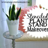 Let this stenciled plant stand makeover at Sparkles of Sunshine inspire you to update some old furniture pieces from your home today!