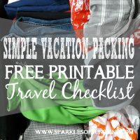 Stressed about packing for vacation? No worries! Use this easy free printable travel checklist to help you pack for vacation this summer! Find it at Sparkles of Sunshine.