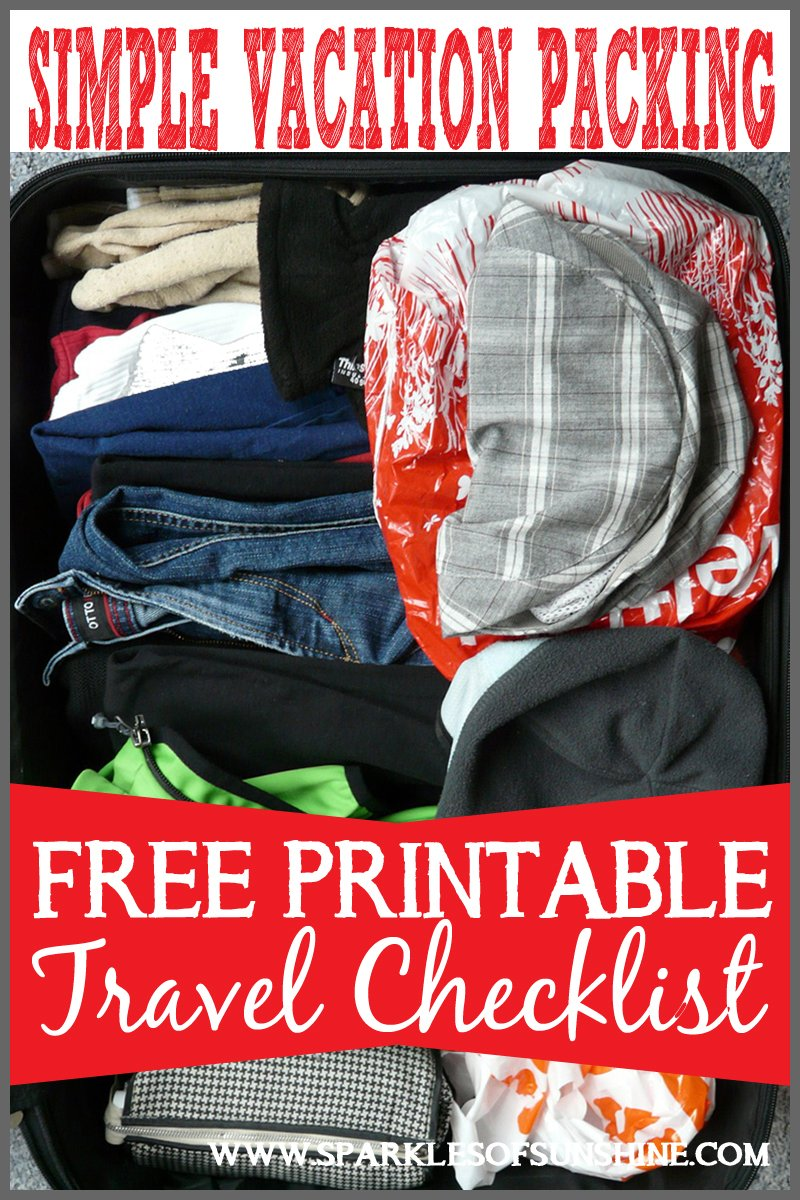 stressed about packing for vacation no worries use this easy free printable travel checklist